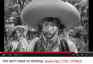 NoStinkingJavaScript
