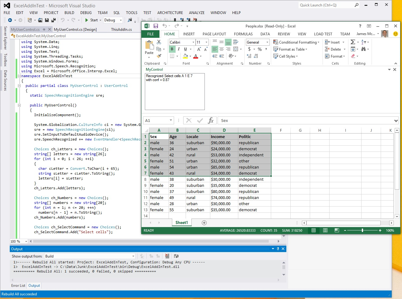 Selecting Excel Cells using Interop and Speech Recognition with C# ...