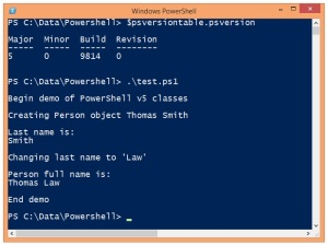 PowerShellV5Classes