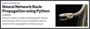 NeuralNetworkBackPropagationUsingPython