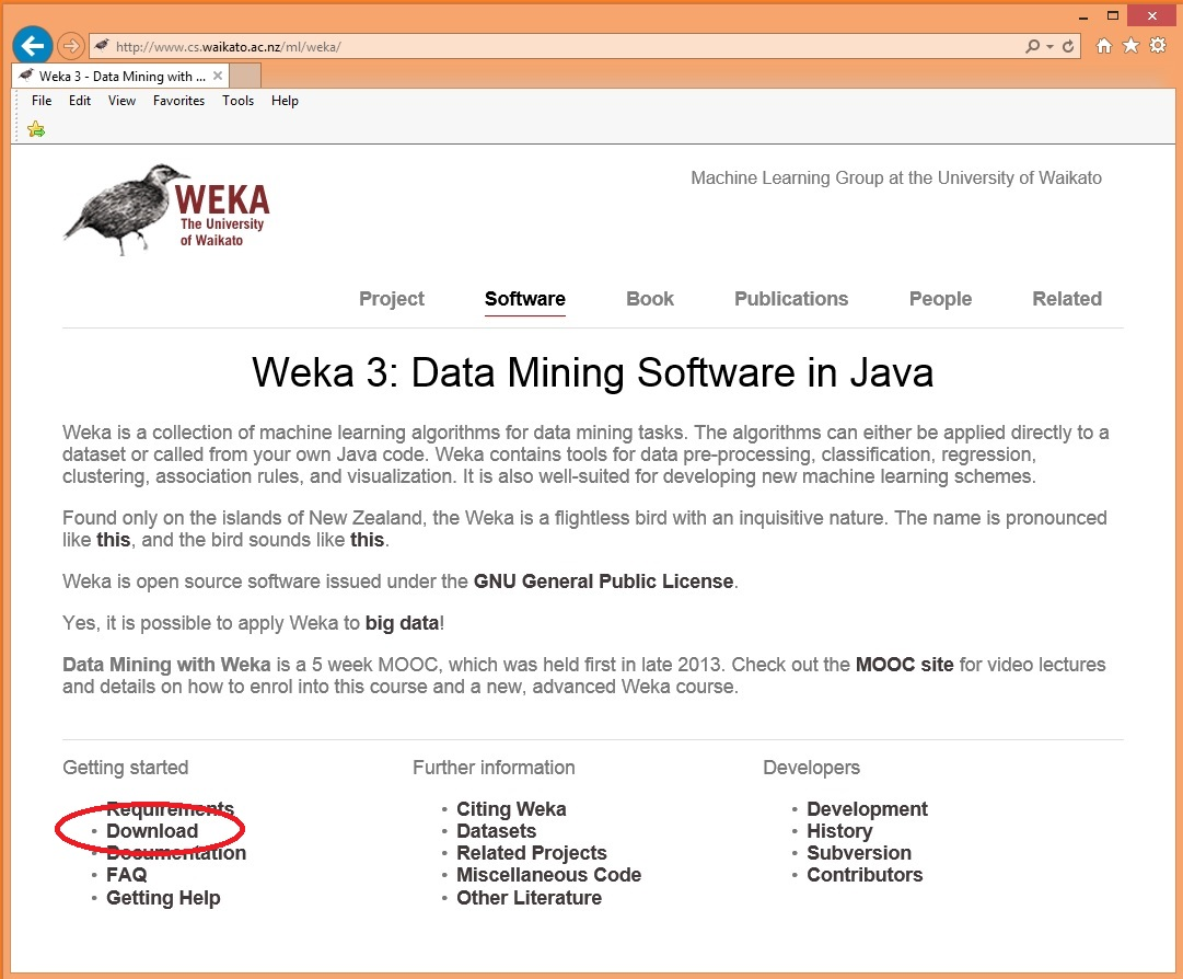 Neural networks with weka quick start tutorial james d mccaffrey your machine almost certainly has java installed on it so click on the windows x64 self extracting executable without the java vm link baditri Images