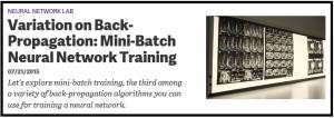 MiniBatchTraining