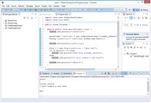 CSharpVsJava-CreatingFiles-Java