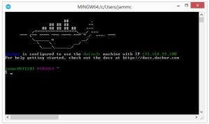 Docker-CygWin-Shell
