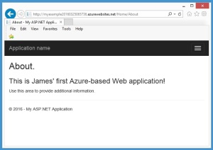 AzureWebSiteRunning
