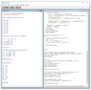 clusteringusingr_demoscreenshot