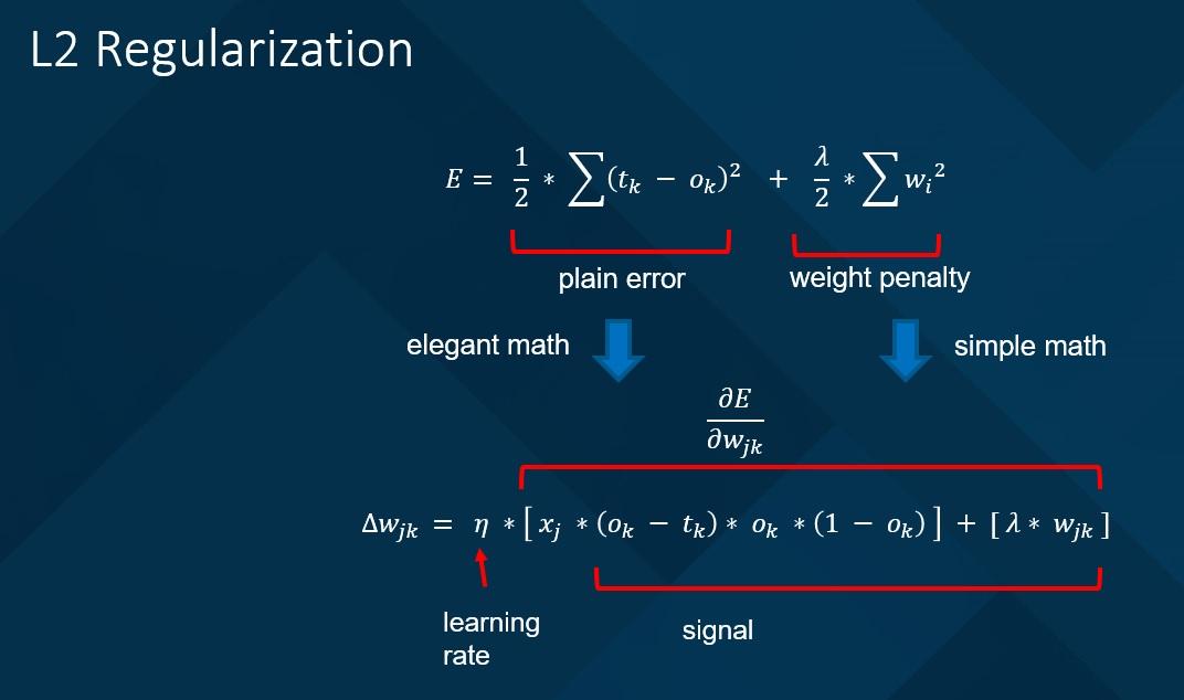 Implementing Neural Network L2 Regularization | James D  McCaffrey