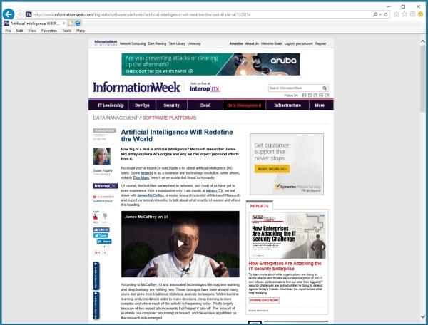 I do an Interview with InformationWeek Magazine | James D ...