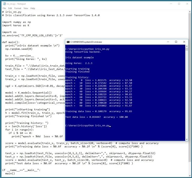 Keras with TensorFlow on Windows – Iris Example | James D