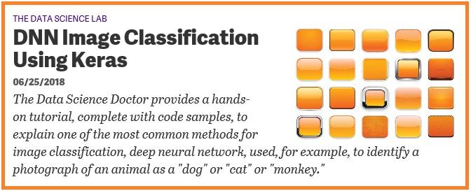 DNN Image Classification Using Keras   James D  McCaffrey