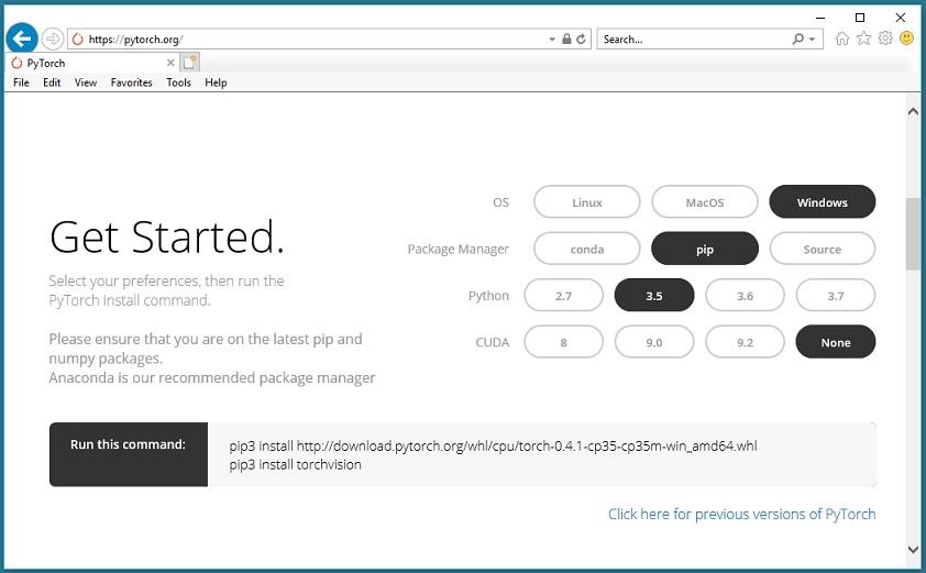 Installing PyTorch on Windows | James D  McCaffrey