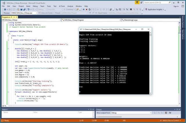 Support Vector Machine using Raw C# | James D  McCaffrey